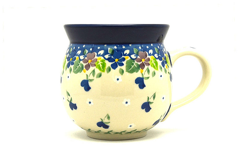 Ceramika Artystyczna Polish Pottery Mug - 11 oz. Bubble - Plum Luck 070-2509a (Ceramika Artystyczna)