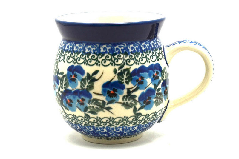 Polish Pottery Mug - 11 oz. Bubble - Winter Viola