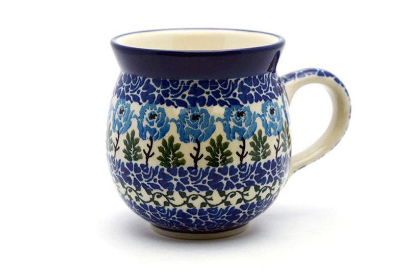 Polish Pottery Mug - 15 oz. Bubble - Antique Rose