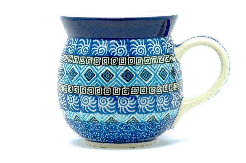 Polish Pottery Mug - 15 oz. Bubble - Aztec Sky