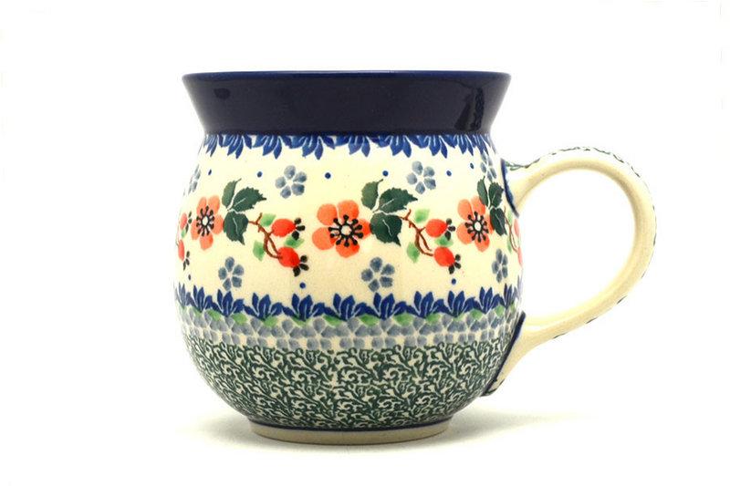 Ceramika Artystyczna Polish Pottery Mug - 15 oz. Bubble - Cherry Blossom 073-2103a (Ceramika Artystyczna)