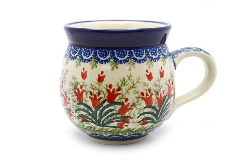 Ceramika Artystyczna Polish Pottery Mug - 15 oz. Bubble - Crimson Bells 073-1437a (Ceramika Artystyczna)