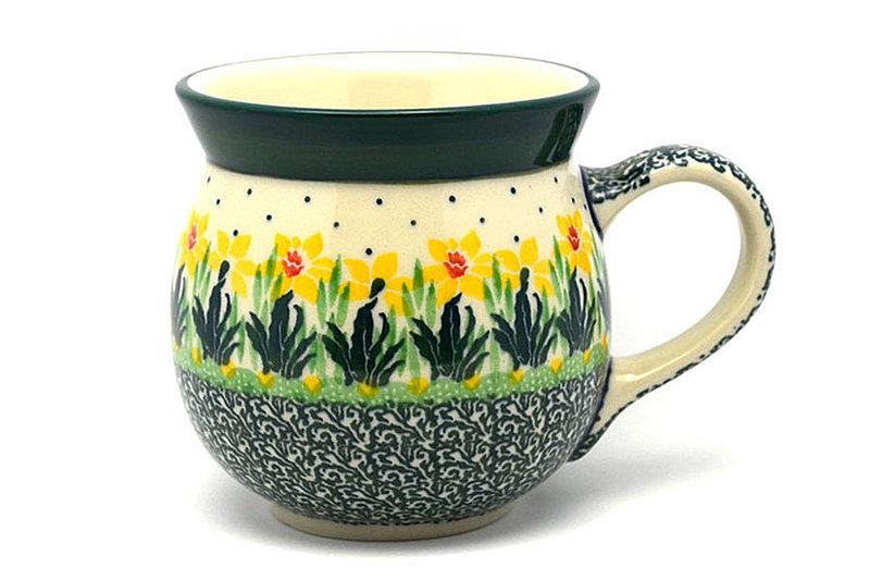Polish Pottery Mug - 15 oz. Bubble - Daffodil
