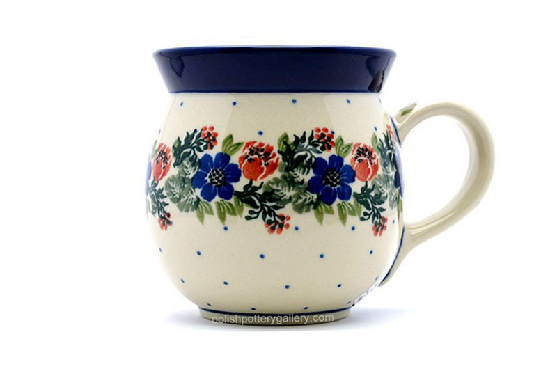 Ceramika Artystyczna Polish Pottery Mug - 15 oz. Bubble - Garden Party 073-1535a (Ceramika Artystyczna)