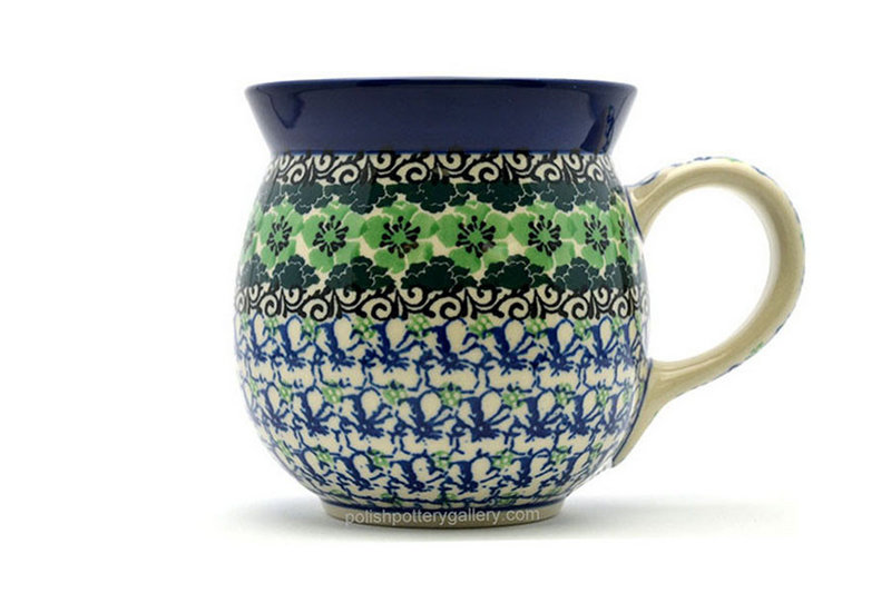 Ceramika Artystyczna Polish Pottery Mug - 15 oz. Bubble - Kiwi 073-1479a (Ceramika Artystyczna)