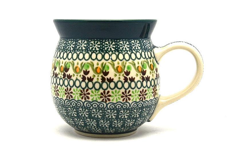 Ceramika Artystyczna Polish Pottery Mug - 15 oz. Bubble - Mint Chip 073-2195q (Ceramika Artystyczna)