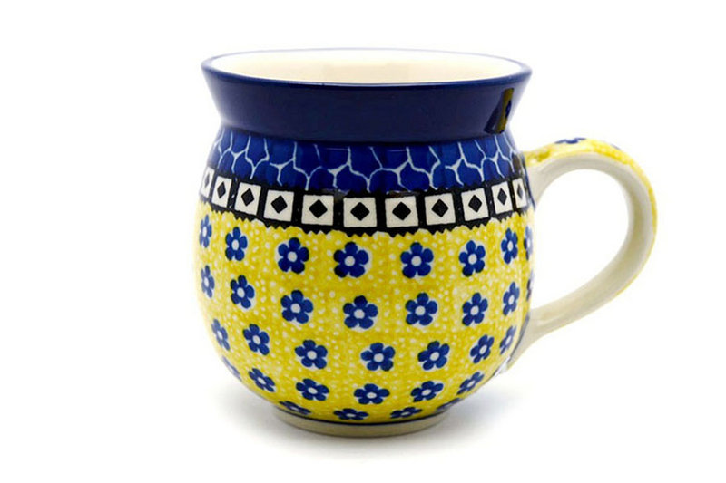 Ceramika Artystyczna Polish Pottery Mug - 15 oz. Bubble - Sunburst 073-859a (Ceramika Artystyczna)