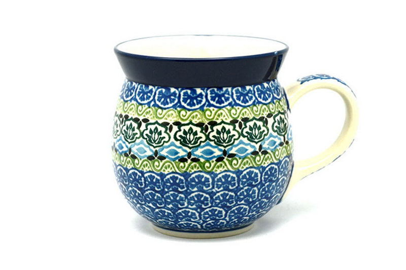Ceramika Artystyczna Polish Pottery Mug - 15 oz. Bubble - Tranquility 073-1858a (Ceramika Artystyczna)