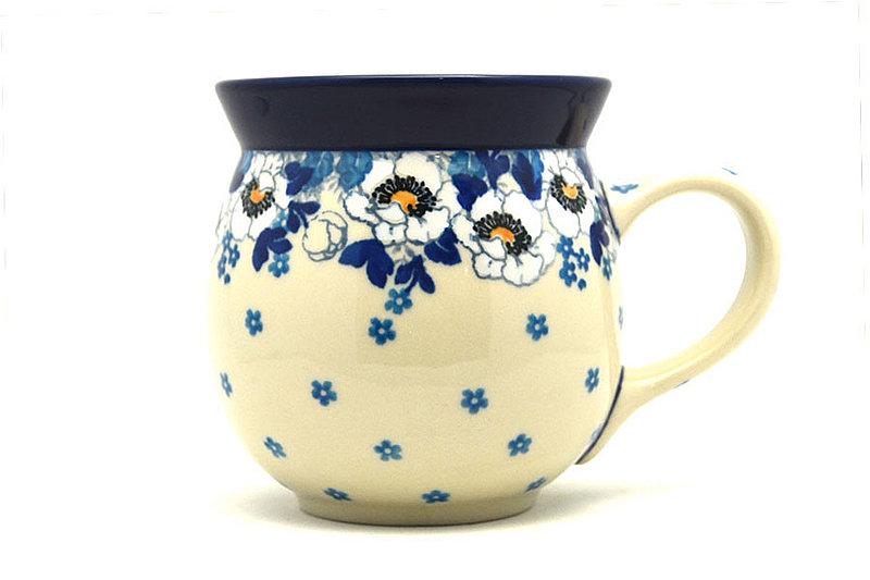 Ceramika Artystyczna Polish Pottery Mug - 15 oz. Bubble - White Poppy 073-2222a (Ceramika Artystyczna)