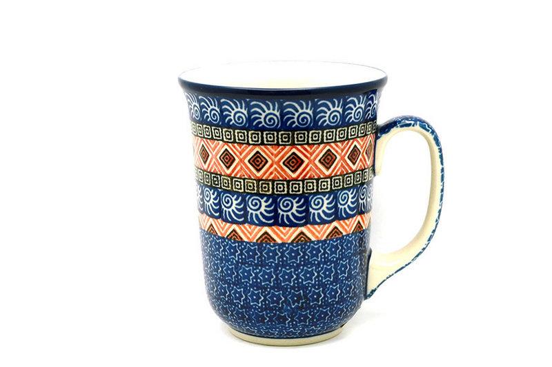 Ceramika Artystyczna Polish Pottery Mug - 16 oz. Bistro - Aztec Sun 812-1350a (Ceramika Artystyczna)