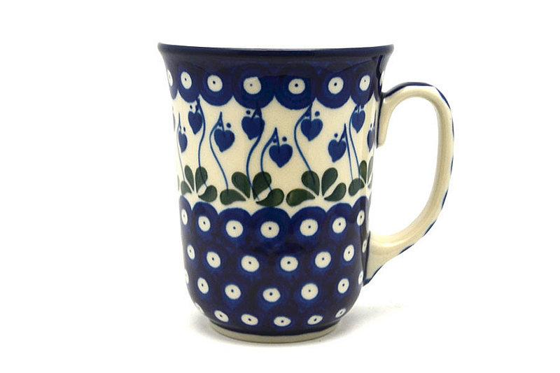 Ceramika Artystyczna Polish Pottery Mug - 16 oz. Bistro - Bleeding Heart 812-377o (Ceramika Artystyczna)