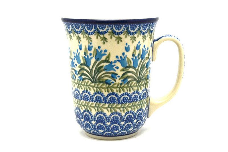 Ceramika Artystyczna Polish Pottery Mug - 16 oz. Bistro - Blue Bells 812-1432a (Ceramika Artystyczna)
