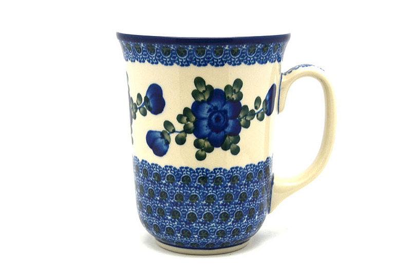 Ceramika Artystyczna Polish Pottery Mug - 16 oz. Bistro - Blue Poppy 812-163a (Ceramika Artystyczna)