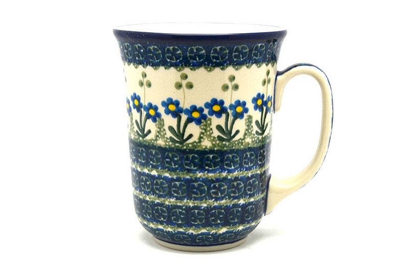 Ceramika Artystyczna Polish Pottery Mug - 16 oz. Bistro - Blue Spring Daisy 812-614a (Ceramika Artystyczna)