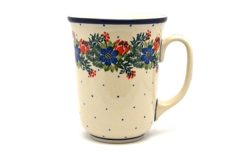 Ceramika Artystyczna Polish Pottery Mug - 16 oz. Bistro - Garden Party 812-1535a (Ceramika Artystyczna)