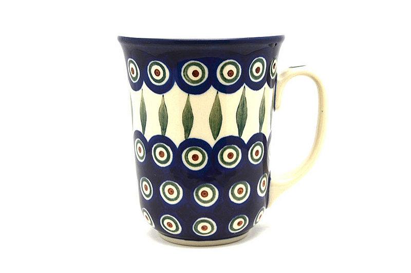 Polish Pottery Mug - 16 oz. Bistro - Peacock