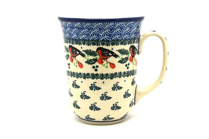 Ceramika Artystyczna Polish Pottery Mug - 16 oz. Bistro - Red Robin 812-1257a (Ceramika Artystyczna)