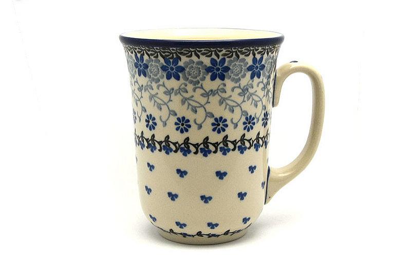 Ceramika Artystyczna Polish Pottery Mug - 16 oz. Bistro - Silver Lace 812-2158a (Ceramika Artystyczna)