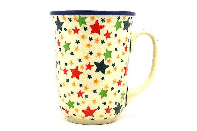 Ceramika Artystyczna Polish Pottery Mug - 16 oz. Bistro - Star Studded 812-2258a (Ceramika Artystyczna)