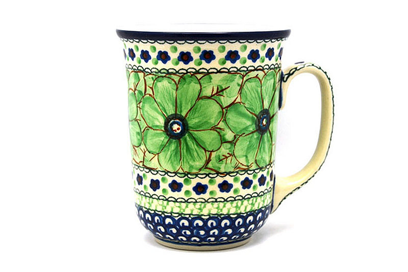 Ceramika Artystyczna Polish Pottery Mug - 16 oz. Bistro - Unikat Signature U408A 812-U408A (Ceramika Artystyczna)