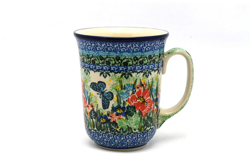 Ceramika Artystyczna Polish Pottery Mug - 16 oz. Bistro - Unikat Signature U4553 812-U4553 (Ceramika Artystyczna)