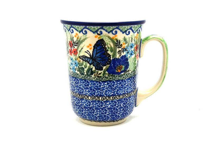 Ceramika Artystyczna Polish Pottery Mug - 16 oz. Bistro - Unikat Signature U4600 812-U4600 (Ceramika Artystyczna)