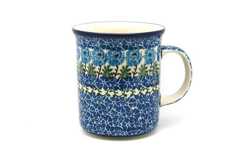 Ceramika Artystyczna Polish Pottery Mug - Big Straight Sided - Antique Rose B13-1390a (Ceramika Artystyczna)