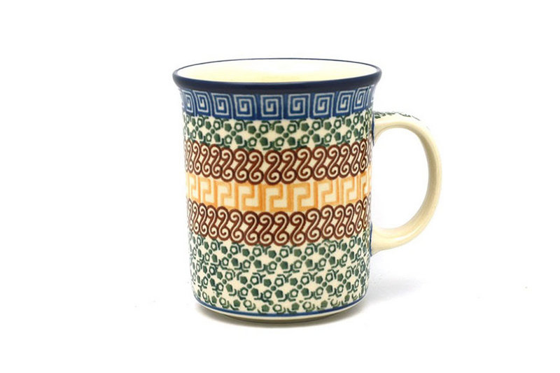 Ceramika Artystyczna Polish Pottery Mug - Big Straight Sided - Autumn B13-050a (Ceramika Artystyczna)