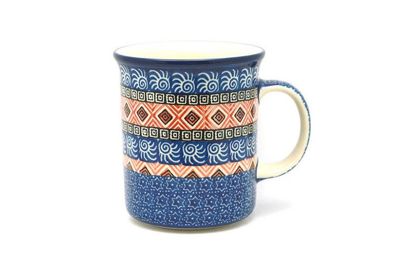 Ceramika Artystyczna Polish Pottery Mug - Big Straight Sided - Aztec Sun B13-1350a (Ceramika Artystyczna)