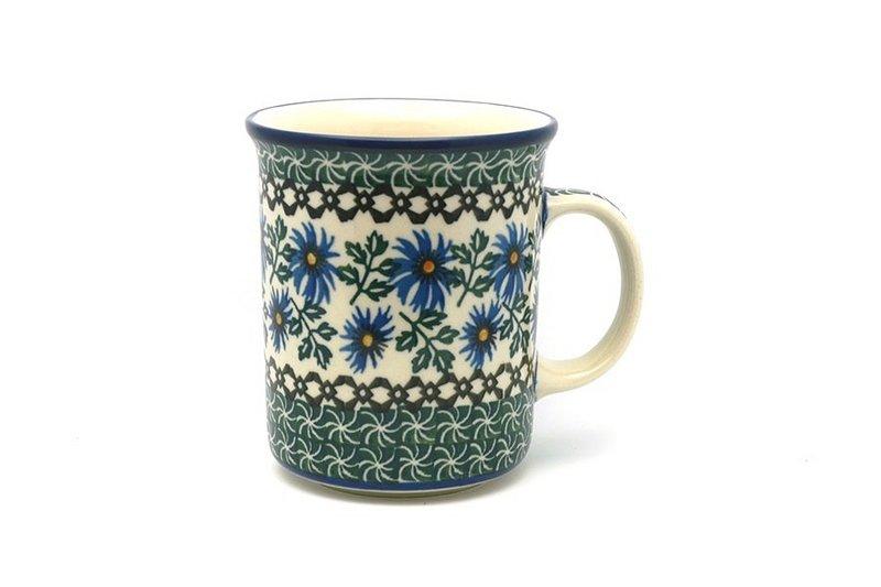 Ceramika Artystyczna Polish Pottery Mug - Big Straight Sided - Blue Chicory B13-976a (Ceramika Artystyczna)