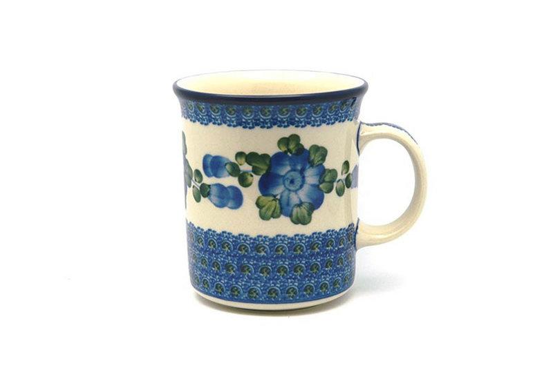 Ceramika Artystyczna Polish Pottery Mug - Big Straight Sided - Blue Poppy B13-163a (Ceramika Artystyczna)