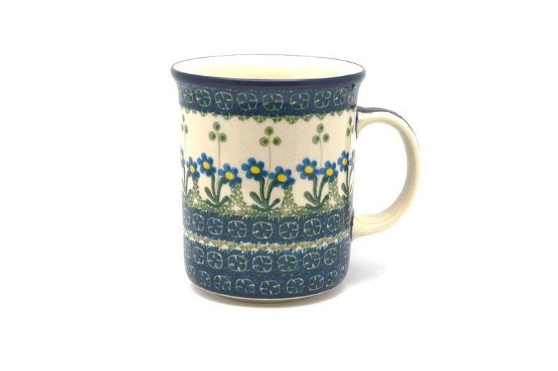 Ceramika Artystyczna Polish Pottery Mug - Big Straight Sided - Blue Spring Daisy B13-614a (Ceramika Artystyczna)