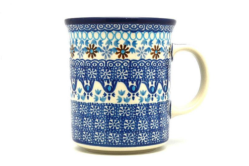 Ceramika Artystyczna Polish Pottery Mug - Big Straight Sided - Blue Yonder B13-2187a (Ceramika Artystyczna)