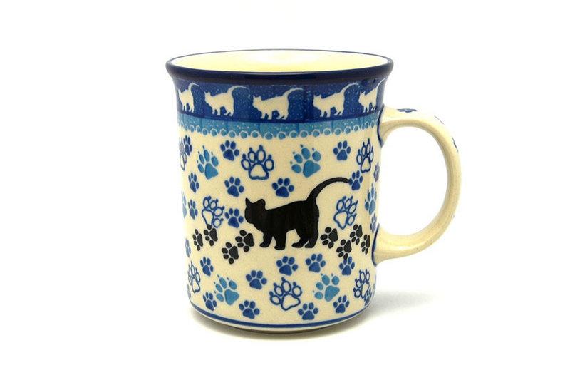 Ceramika Artystyczna Polish Pottery Mug - Big Straight Sided - Boo Boo Kitty B13-1771a (Ceramika Artystyczna)