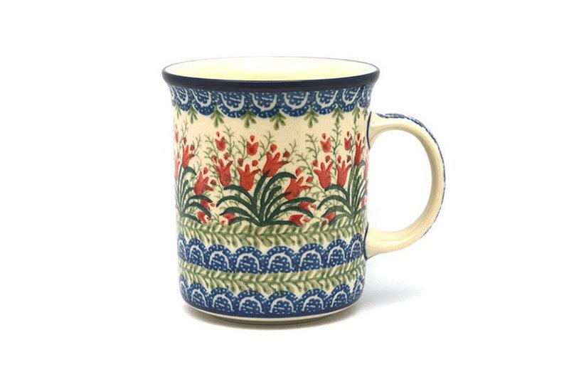 Ceramika Artystyczna Polish Pottery Mug - Big Straight Sided - Crimson Bells B13-1437a (Ceramika Artystyczna)