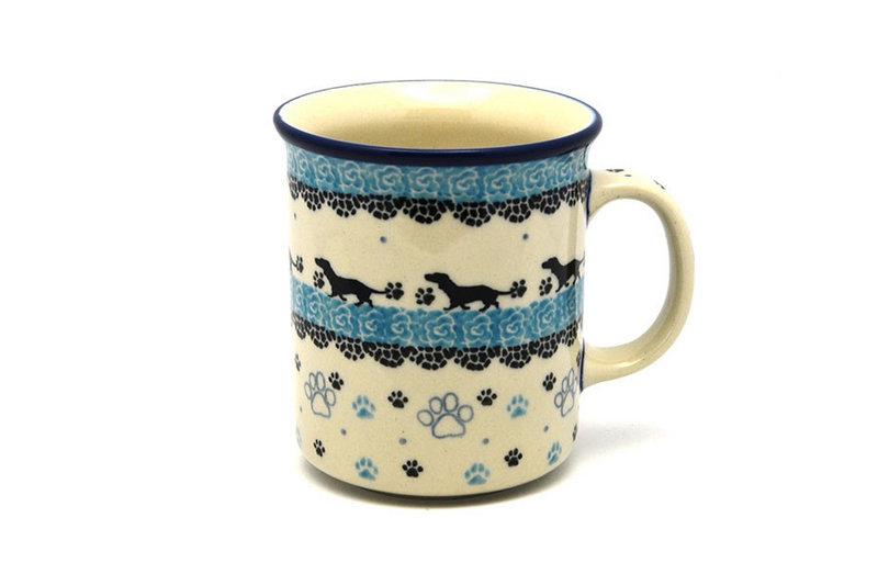 Ceramika Artystyczna Polish Pottery Mug - Big Straight Sided - Diggity Dog B13-2152a (Ceramika Artystyczna)
