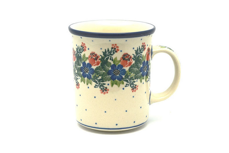 Polish Pottery Mug - Big Straight Sided - Garden Party