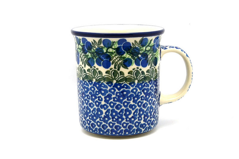 Ceramika Artystyczna Polish Pottery Mug - Big Straight Sided - Huckleberry B13-1413a (Ceramika Artystyczna)
