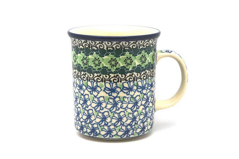 Ceramika Artystyczna Polish Pottery Mug - Big Straight Sided - Kiwi B13-1479a (Ceramika Artystyczna)