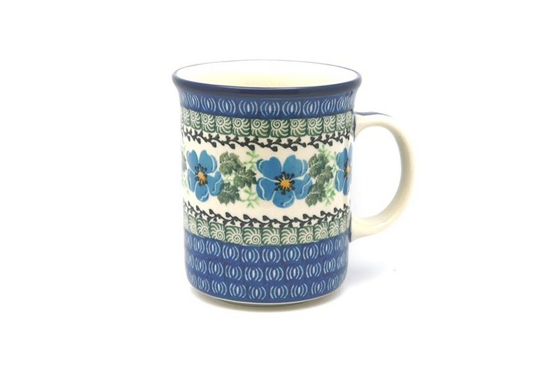 Ceramika Artystyczna Polish Pottery Mug - Big Straight Sided - Morning Glory B13-1915a (Ceramika Artystyczna)