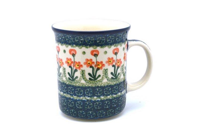Ceramika Artystyczna Polish Pottery Mug - Big Straight Sided - Peach Spring Daisy B13-560a (Ceramika Artystyczna)