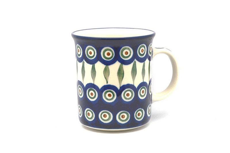 Ceramika Artystyczna Polish Pottery Mug - Big Straight Sided - Peacock B13-054a (Ceramika Artystyczna)