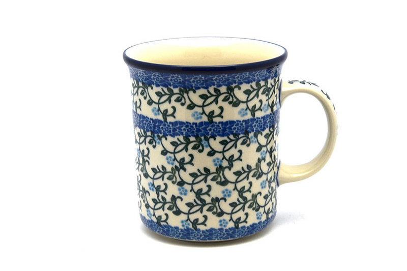 Ceramika Artystyczna Polish Pottery Mug - Big Straight Sided - Terrace Vines B13-1822a (Ceramika Artystyczna)