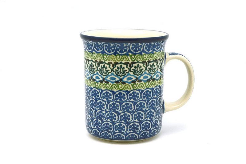 Ceramika Artystyczna Polish Pottery Mug - Big Straight Sided - Tranquility B13-1858a (Ceramika Artystyczna)