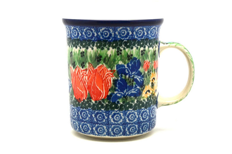 Ceramika Artystyczna Polish Pottery Mug - Big Straight Sided - Unikat Signature - U3516 B13-U3516 (Ceramika Artystyczna)