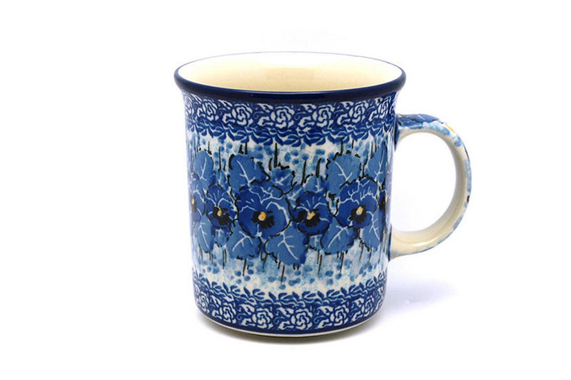 Ceramika Artystyczna Polish Pottery Mug - Big Straight Sided - Unikat Signature - U3639 B13-U3639 (Ceramika Artystyczna)
