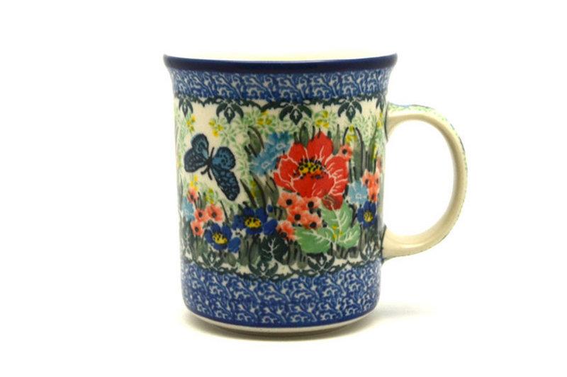 Ceramika Artystyczna Polish Pottery Mug - Big Straight Sided - Unikat Signature - U4553 B13-U4553 (Ceramika Artystyczna)