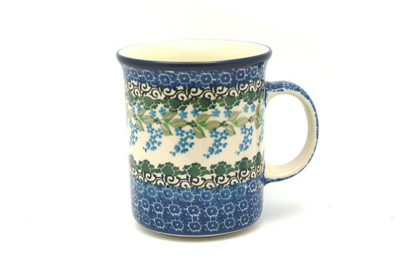 Ceramika Artystyczna Polish Pottery Mug - Big Straight Sided - Wisteria B13-1473a (Ceramika Artystyczna)