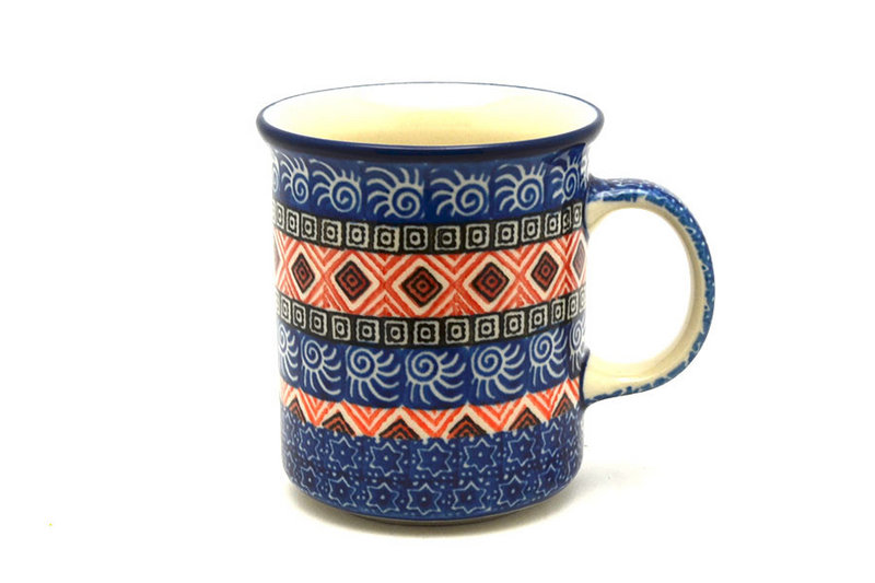 Ceramika Artystyczna Polish Pottery Mug - Straight Sided - Aztec Sun 236-1350a (Ceramika Artystyczna)