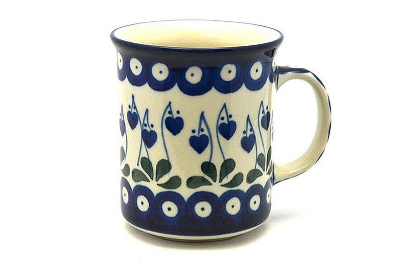 Ceramika Artystyczna Polish Pottery Mug - Straight Sided - Bleeding Heart 236-377o (Ceramika Artystyczna)
